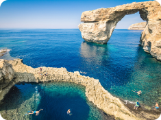 The Blue Hole in Gozo